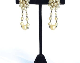 Pearl Drop Earrings Antique