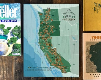 Pacific Crest Trail Map, Pacific Crest, National Scenic Trail, Map for Hikers, PCT Map, Push Pin Map, Pacific Crest Wall Decor, PCT Club