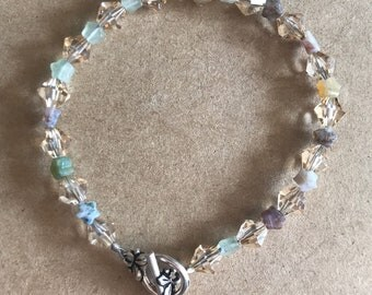 Swarovski and Stone Beaded Bracelet