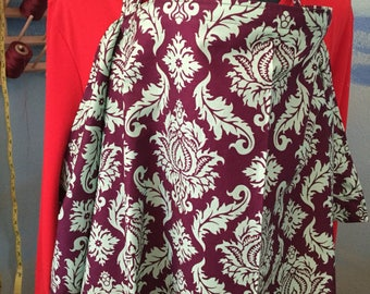 """nursing cover breastfeeding cover up apron hider cotton newest print damask teal plum xl 42x27"""""""