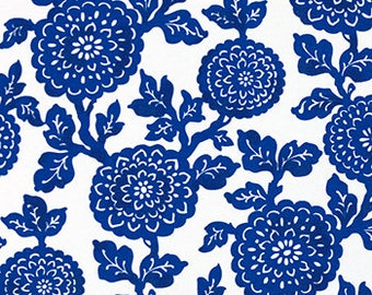 Two  Custom  20 x 20 Designer Decorative Pillow Covers  Indoor/Outdoor - Mums Floral - Cobalt Blue