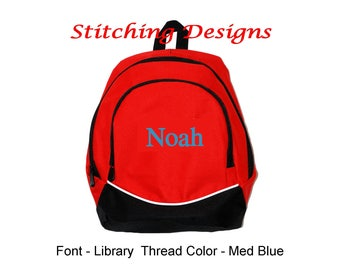 Toddler Backpack, Almost Indestructible -  RED with Name Included, Boy or Girl