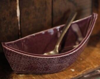 Dory Dip Boat in Purple Haze by Village Pottery PEI