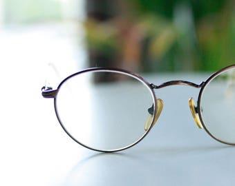 90s OPERA glasses - elegant bronze finish - vintage metal eyeglasses - made in Italy - Frames, designer eyewear, Womens, Mens Eyeglasses