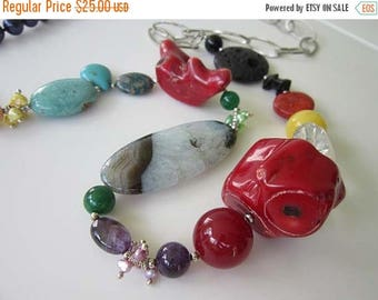 50% OFF Variety Stone Necklace with Color and Fun