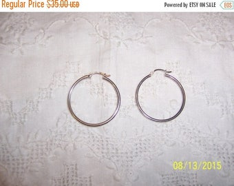 TWICE A YEAR, 25% Off Vintage Hoop Earrings. Sterling silver.