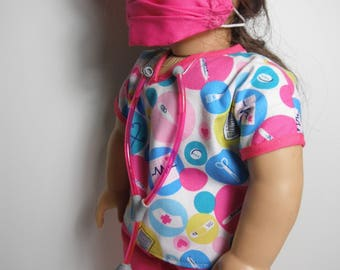 18 Inch Doll Clothes Medical/Surgical Outfit