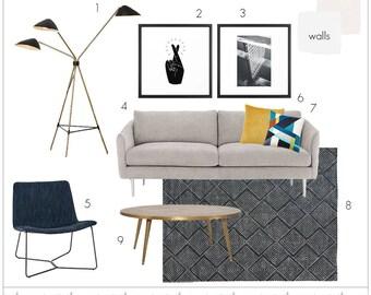 Interior Design Services - Custom Room E-Design