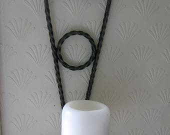 Wrought iron Candlestick for big candles