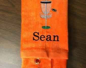 Disc golf rag, Personalized disc golf towel, great disc golf gift, team towels, disc golf gift