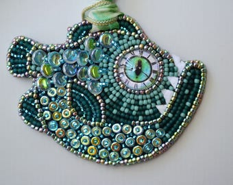 Kristof Fishie- Catch of the day Pendant bead embroidery kit