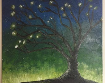 """Tree of Souls - 16""""x16""""x1.5"""" Acrylic painting on Canvas- Gallery Style - Original"""