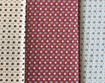 FabricFreedom Festive Friends Collection FF302 by the half metre in Raspberry, cream and blue