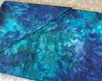 Tie Dye Blue Table Runner - altar cloth, tablecloth, shrine decoration, 100% cotton