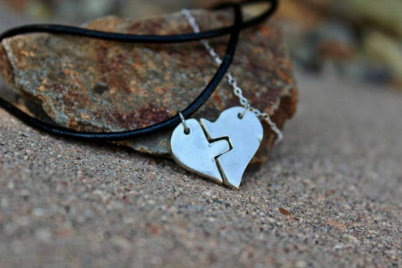 Couples Necklaces, Puzzle Necklaces, Couple Necklaces, Valentine, Gift for Boyfriend, Sterling Silver Puzzle Couples Jewelry, Puzzle Couple