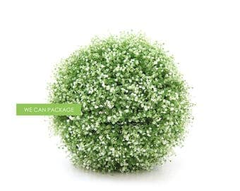 SALE! 16 Inch Artificial Green Leaf Ball Large Topiary Ball Rustic Wedding Home Decorations