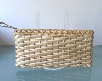 Vintage Made in Hong Kong Wicker Clutch