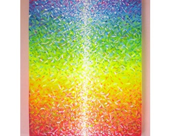 Color Maditation'' Original Abstract Acrylic painting 16x20 on Stretched canvas