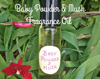 Baby Powder and Musk Fragrance Roll On - Musk Oil Fragrances - Baby Powder Fragrance Roll On - Elusive Wolf