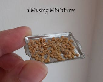 NEW Roasted Pumpkin Seeds in 1:12 Scale for Dollhouse Miniature Fall Harvest Halloween Kitchen