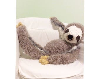 Amigurumi Crocheted Sloth