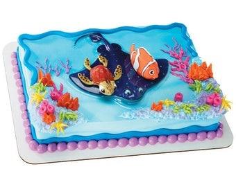 Nemo Cake Topper Etsy - Finding nemo birthday cake