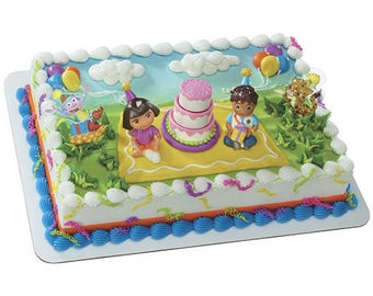Dora - Party - Decorate your own Cake - Cake Toppers Decorations Party Favors Supplies