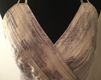 Vintage 1970's Marilyn Inspired Silk Dress