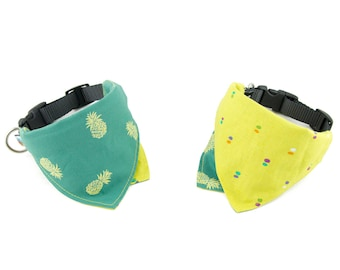 Aloha / Palm Reversible Dog Bandana Collar