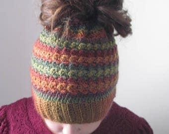 Polo Messy Bun/ Ponytail Hat