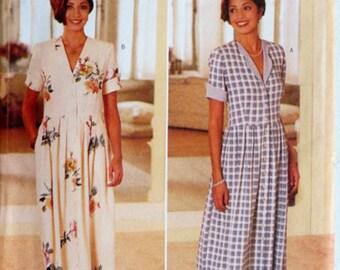 Dropwaist Dress, Misses 12 14 16, Butterick 4385, UNCUT, Pattern, Button Front, Size 12, Size 14, Size 16, Jessica Howard, Shoulder Pads