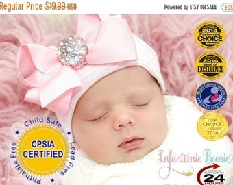 SALE 25% OFF newborn hospital hat (Baby girl hat, newborn girl hat, hospital newborn hat, newborn hat)