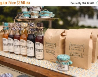 SALE 15% Sale Ends Sunday Mini Biscuit Mix Custom Wedding Favor perfect for Southern Weddings, Vintage Weddings, Rustic Weddings and Shabby