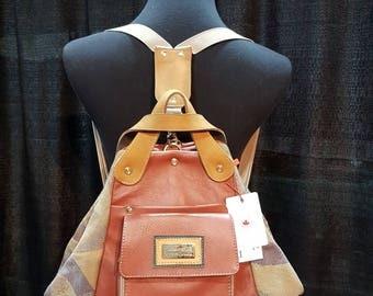 Convertible bag/backpack/shoulder bag/handbag/real leather