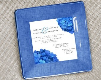 Wedding invitation plate - personalized wedding gift - keepsake for couples - 1st anniversary gift - unique wedding gift - wedding keepsake