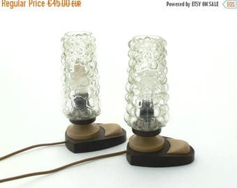 SALE 20% off Vintage pair of bedside lamps from 70s, Desk lamp, Table lamps, Bedside plastic lamp