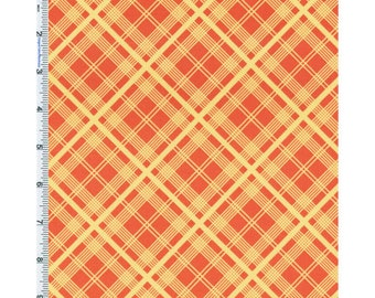Orange/Yellow Denyse Schmidt Chicopee Plaid Cotton Corduroy, Fabric By The Yard