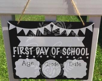 Back To School - First Day Of School - Last Day of School - Personalized Chalkboard - Dry Erase Chalkboard -  Wipe Off Chalkboard