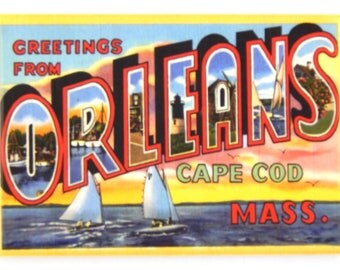 Greetings from Orleans Cape Cod Massachusetts Fridge Magnet