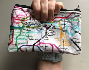 Zippered Pouch - London Underground coin purse/change purse