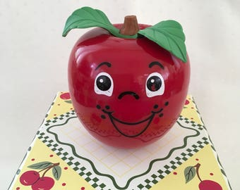 Fisher Price Happy Apple ~~ Chime 1972 ~~ Baby Toy