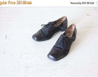 ON SALE Salvatore Ferragamo Black Leather Oxfords