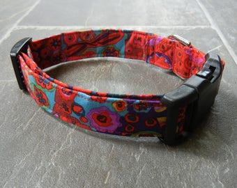 New Kaffe Fassett  cotton Dog collar Modern dog collar