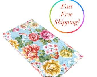 Roses Checkbook Wallet, Checkbook Cover, Cash Checkbook, Floral Womans Wallet, Checkbook Holder, Fabric Checkbook Cover