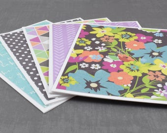 Flower Cards, Pack of Greeting Cards, Assorted Cards, Set of Cards, Blank Greeting Cards, Stationery Cards, Blank Cards, Handmade Cards