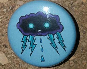 """Little Storm 1"""" Pin, Pinback Button, light blue"""