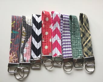 Quilted Key Fob Wrist Strap // Your choice of fabric // In Stock Ready to Ship