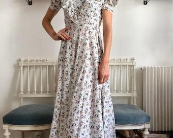 Vintage 1930 cotton german dress