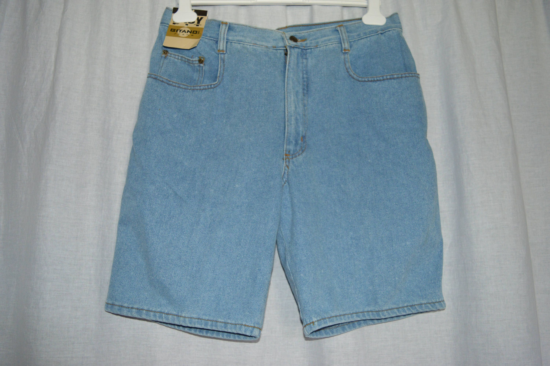 Hermans Eco vintage Denim mens Beach Pants Jeans shorts zip fly 34