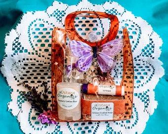 Gift Set Lavendar, Lavendar, Spa Gift Set, Bath Gift Set, Natural Gift Set, Organic Spa Set, Bridal Shower Gift, Gift For Her, Teen Gift Set
